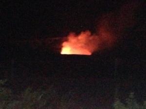 Kilauea Volcano de noite